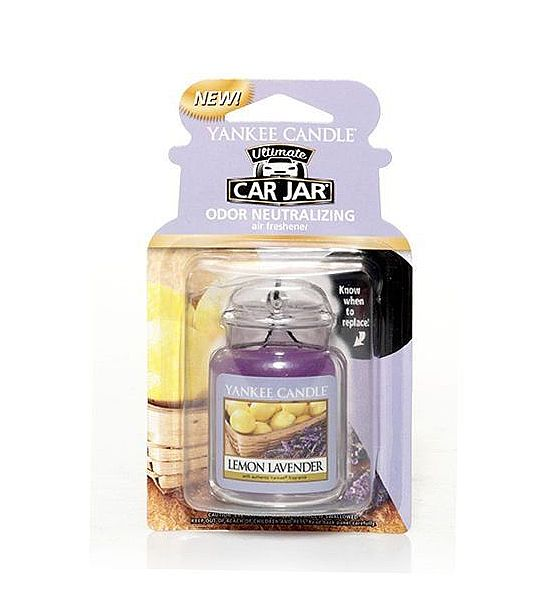 Vůně do auta Yankee Candle visačka Lemon Lavender 1ks