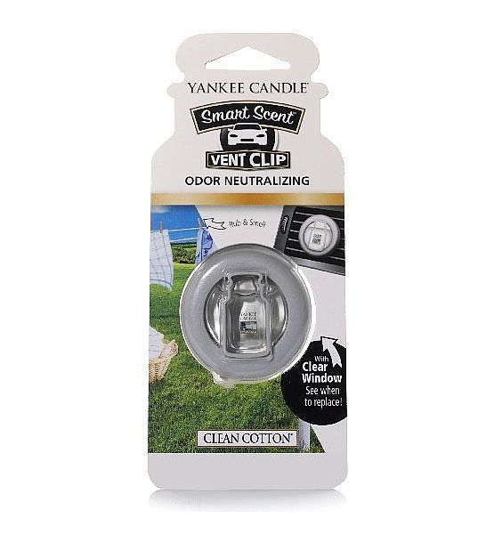 Vůně do auta Yankee Candle clip Clean Cotton 1ks