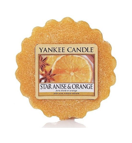 Vonný vosk do aromalampy Yankee Candle STAR ANISE & ORANGE 22g/8hod