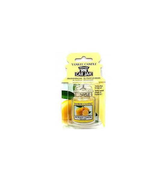 Vůně do auta Yankee Candle visačka Sicilian Lemon 1ks