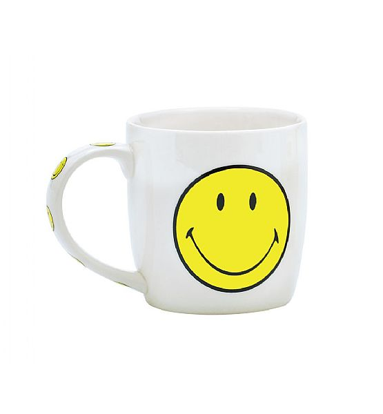 Hrnek Zak Designs Smiley Emoticon porcelán bílá 350 ml