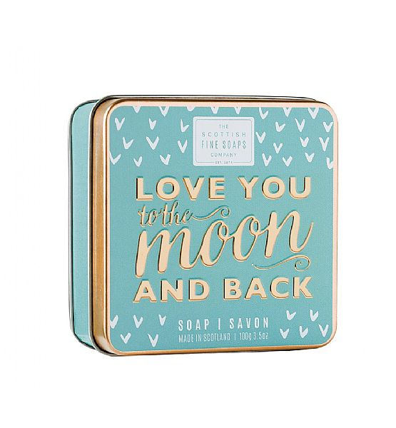 Mýdlo v plechu The Scottish Fine Soaps - love you to the moon and back 100g