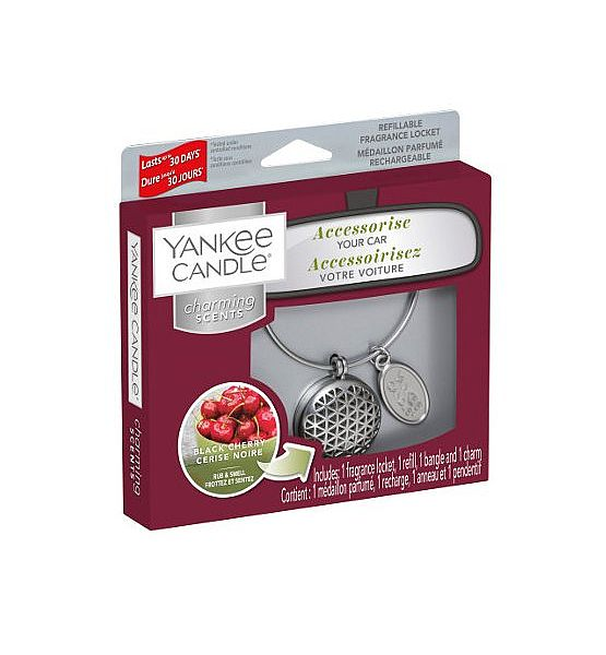 Vůně do auta Yankee Candle Charming Scents Geometric Black Cherry