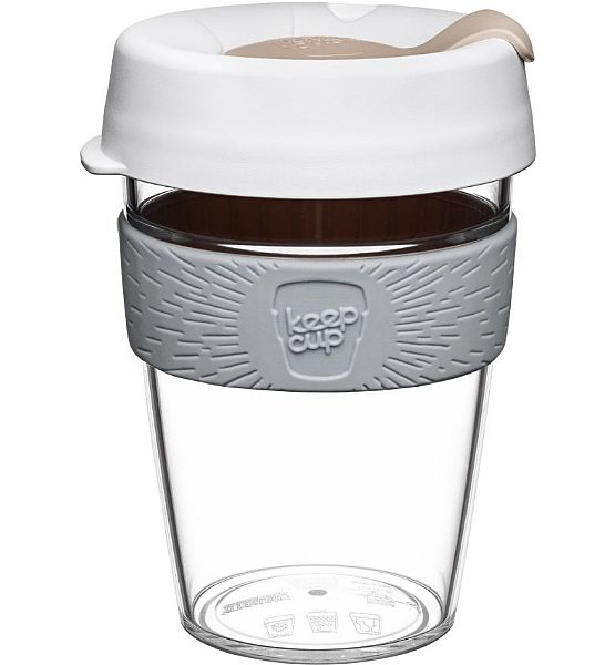 Hrnek KeepCup Clear Nimbus M (340 ml)