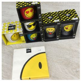 Hrnek Zak Designs Smiley Emoticon porcelán modrá 150 ml