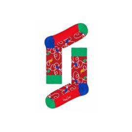 Červené ponožky Happy Socks s vánočním vzorem Holiday lights e162d67441