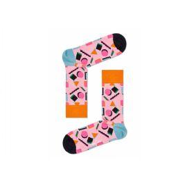 Růžové ponožky Happy Socks s barevným vzorem Nineties Sock 1dfb2b010f