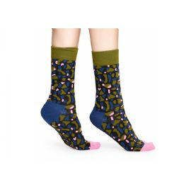 Zeleno-modré ponožky Happy Socks X Wiz Khalifa, vzor No Limit Sock, S-M (36-40)