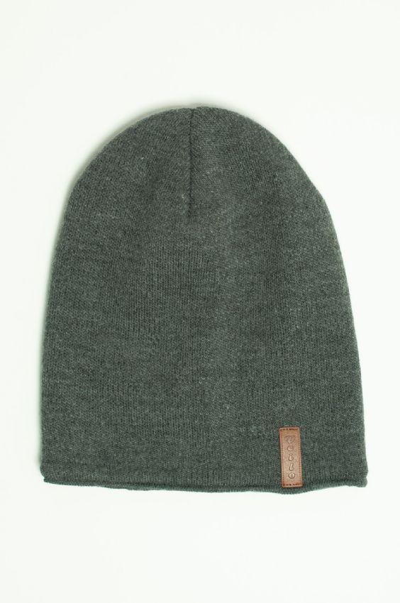 ccc2029a358 Unisex zimní čepice bez bambule Veilo - tmavě šedá