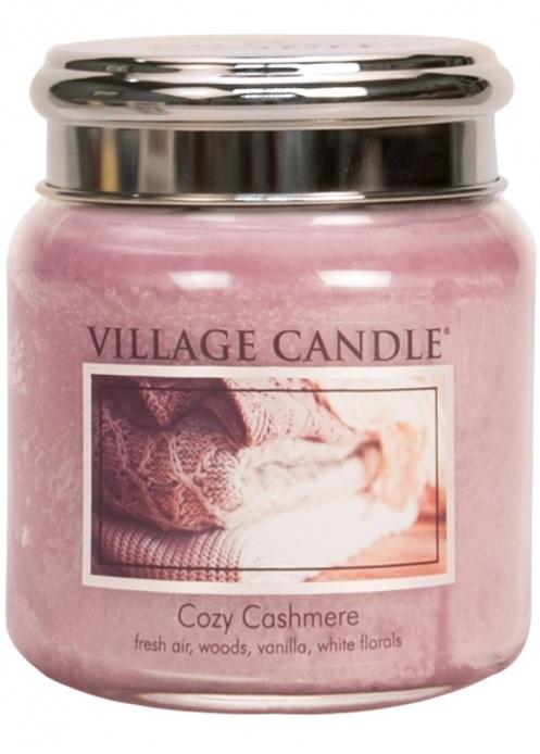 ff1d745167 Village Candle Vonná svíčka ve skle Kašmírové pohlazení - Cozy Cashmere  střední - 390g 105